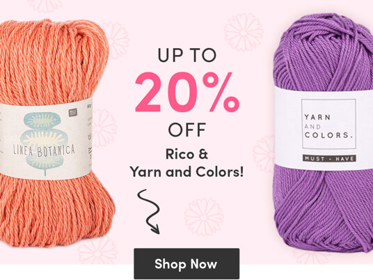 Up to 20 percent off Rico & Yarn and Colors!