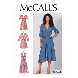 McCall's Misses' Dresses M7974 - Sewing Pattern