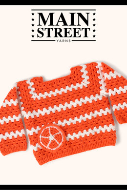 Citrus Sweater in Main Street Yarns Shiny + Soft - Downloadable PDF