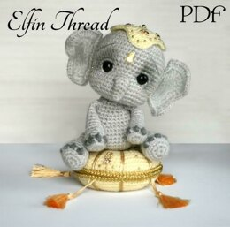 Elil the Chibi Elephant Amigurumi