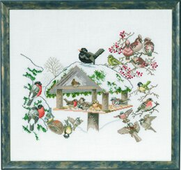 Eva Rosenstand Bird Table Cross Stitch Kit - Multi