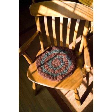 Sit Upon: A Crocheted Wool Roving Seat Pad