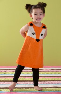 Child's Foxy Tunic in Red Heart Anne Geddes Baby - LW4266