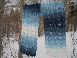 Water Color Waves Lace Scarf