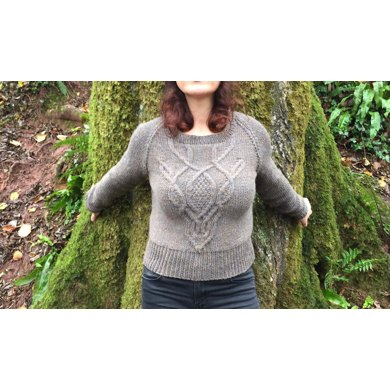 85aa0106c2a7a Deer Skull Cable Sweater Knitting pattern by Jacquira Knitsthatfit