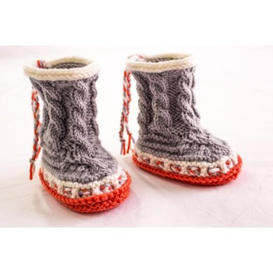 High Top Cable Booties