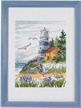 Permin Lighthouse Scene Cross Stitch Kit
