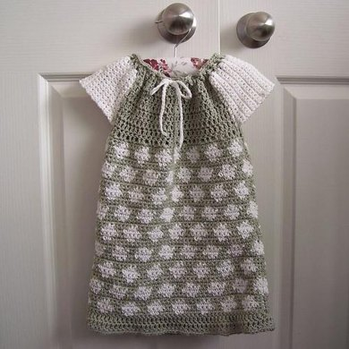 Crocheted Peasant Dress for Baby or Toddler