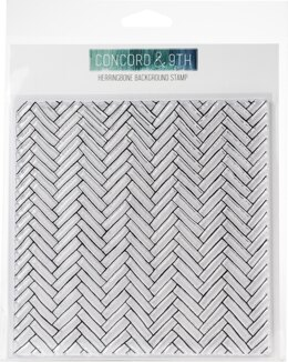 """Concord & 9th Clear Stamps 6""""X6"""" - Herringbone Background"""