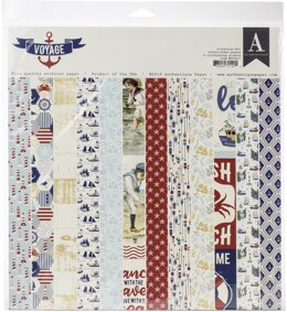 "Authentique Paper Authentique Collection Kit 12""X12"" - Voyage"