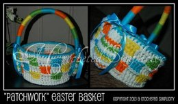 """Patchwork"" Easter Basket"