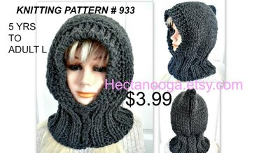 933 - Knitted Hood