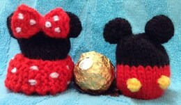 Mickey and Minnie Mouse Ferrero Choc Cover