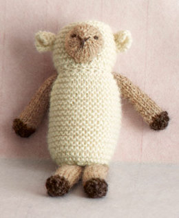 Knit Little Lamb Toy in Lion Brand Superwash Merino Cashmere - L0211AD
