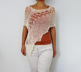 Laced Shoulders Poncho