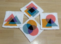 KGeometry: 4 Coasters with Different Venn Diagrams