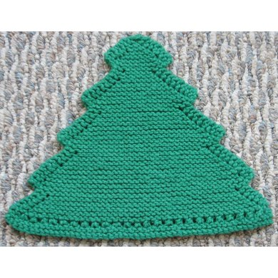 Grandma's Favorite Christmas Tree dishcloth