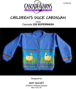 Children's Duck Cardigan in Cascade 220 Superwash - W187