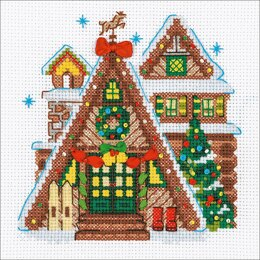 Riolis Winter Cabin Cross Stitch Kit - R1660