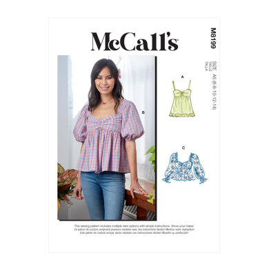 McCall's Misses' Tops M8199 - Sewing Pattern