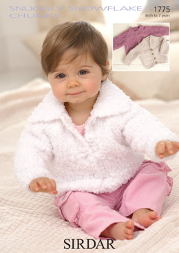 Babies and Children Cardigans in Sirdar Snuggly Snowflake Chunky - 1775 - Downloadable PDF