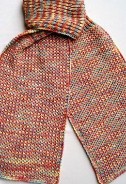 Single and Double Brioche Stitch Turtleneck Scarf