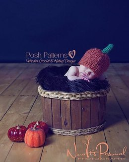 Baby Pumpkin Hat Crochet Pattern 132