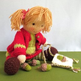 Little Nellie Nutkins - knitted doll