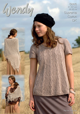 Swing Tunic and Shawl in Wendy Cotton DK - 5665