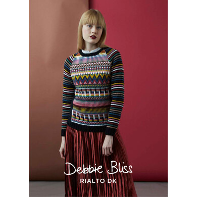 """Alma Jumper"" : Jumper Knitting Pattern for Women in Debbie Bliss DK 