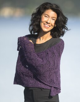 Flame Tree Shawl in Cascade Yarns Aegean Tweed - DK642 - Downloadable PDF
