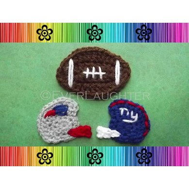 Football and Helmet Applique
