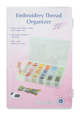 Hemline Embroidery Thread Box - Large