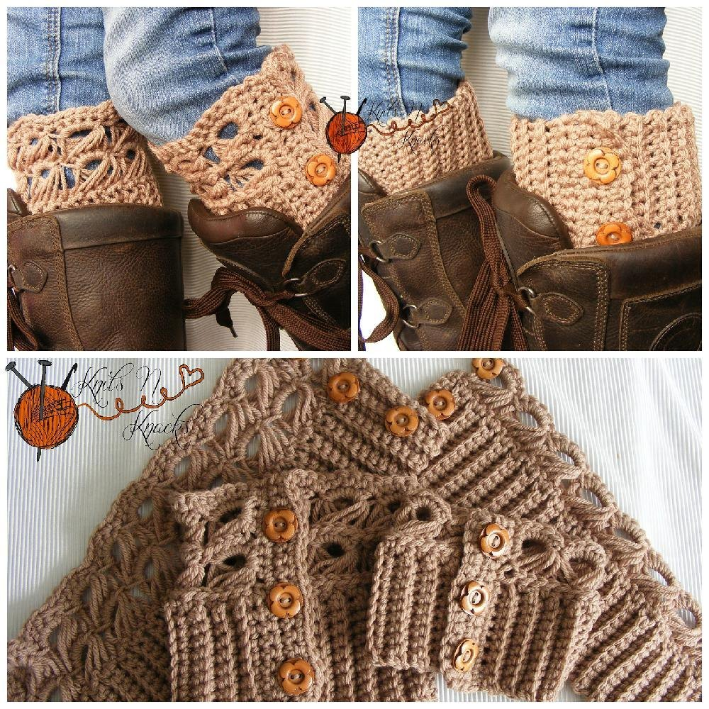 Angel Boot Cuffs Crochet Pattern By Lisa Schaffrick Crochet Patterns