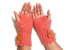 Fingerless mittens shell design