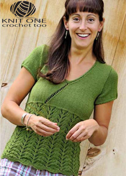 Faux Cross-Over Tee by Knit One Crochet Too Pediwick - 2092 - Downloadable PDF