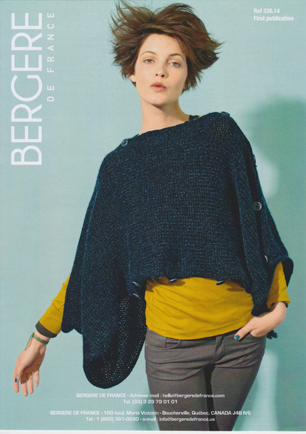 Adaptable poncho in bergere de france cocoon 33614 for Bergere de france miroir
