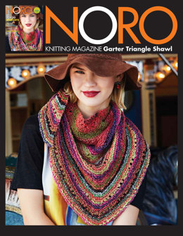 Garter Triangle Shawl in Noro Janome - 15 - Downloadable PDF