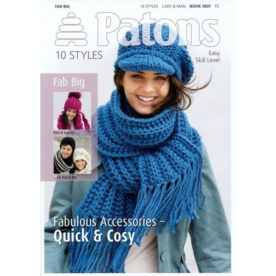 10 Accessories in Fab Big by Patons - 3837