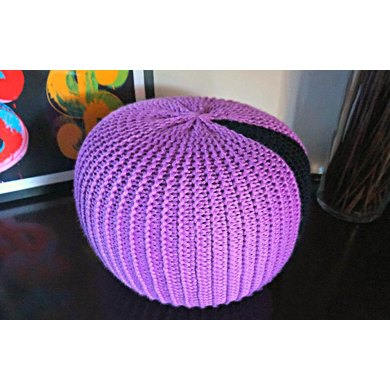 Lilac Pouf Foot Stool Pattern