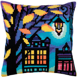 Collection D'Art Twilight Street III Cross Stitch Cushion Kit