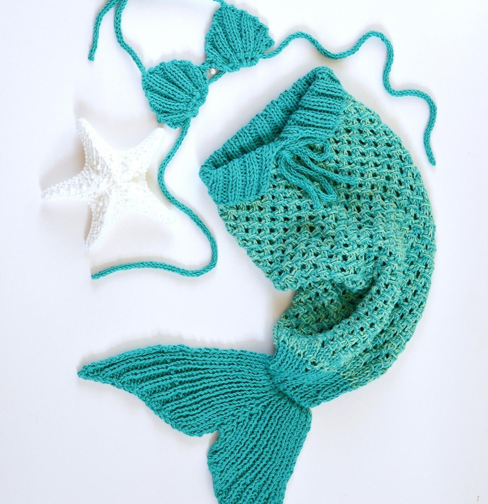 Mermaid Tail Blanket Knitting Patterns Loveknitting