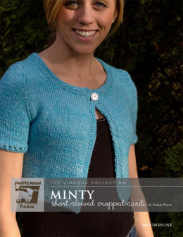 Minty Short sleeved Cropped Cardi in Juniper Moon Moonshine - Downloadable PDF