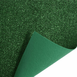 Trimits Glitter Felt Sheet - 23cm x30cm - Green