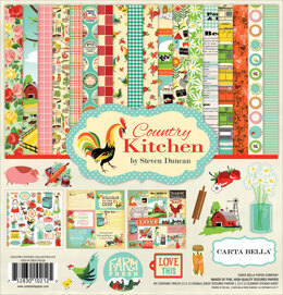 "Echo Park Paper Carta Bella Collection Kit 12""X12"" - Country Kitchen"
