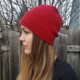 Crossed-seams hat