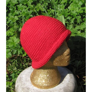 Simple Garter Stitch Roll Brim Beanie Hat