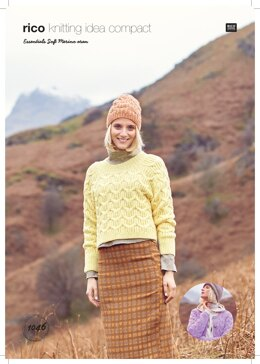Women's Cardigan, Hat and Jumper in Rico Essentials Soft Merino Aran - 1046 - Downloadable PDF
