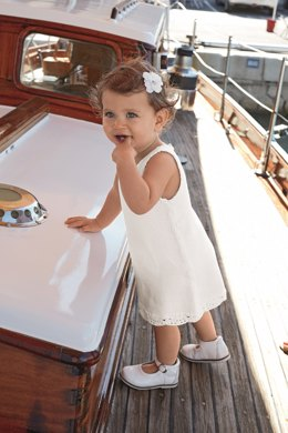 Babies Dress with Crochet Border in Bergere de France Coton Fifty - 67531-22 - Downloadable PDF