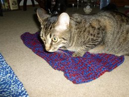 Susan's Squares Afghan (mini version for cats)